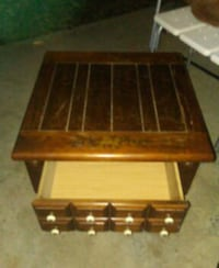 brown wooden  side table Huntly, 22640
