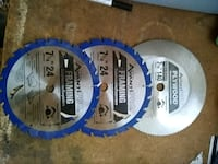three silver and blue saw blades Tucson