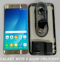 Galaxy Note 5 (64GB) GSM-UNLOCKED + Accessories  Arlington