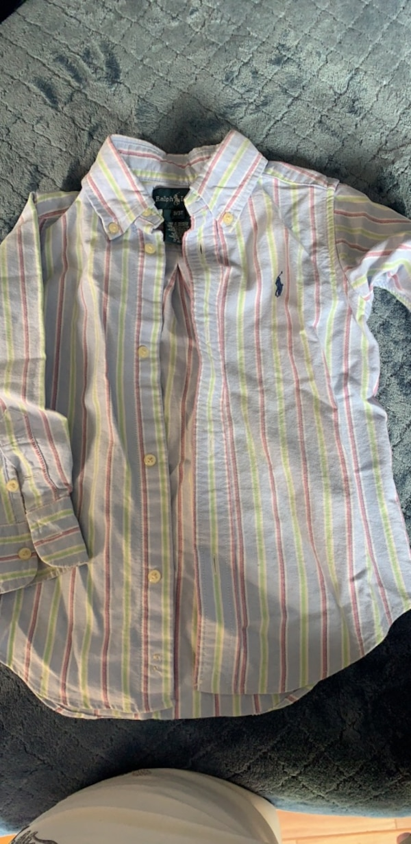 Ralph Lauren boy's dress long sleeves shirt! Size 3/3T! Excellent condition! 7dd81e9f-b252-4d7b-9c80-4a7efa015d39