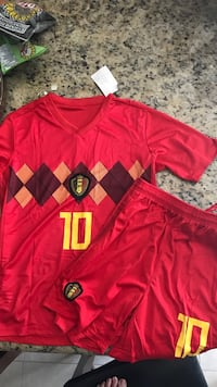 Eden Hazard Belgium World Cup Jersey and Shorts Bolton, L7E 2T4