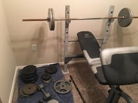 Bench Press with weights and weights stand