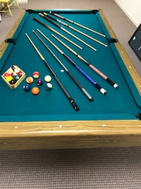 8 Ft Billiard Pool Table w/Table Tennis Top Ellicott City