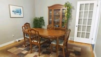 Table, 6 chairs and hutch set. 300 obo London, N6E 1G6