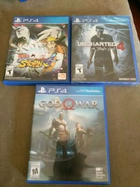 God of war / uncharted 4 (not opened) / naruto Kitchener, N2E 3P8