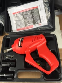 red and black Milwaukee cordless power drill Toronto, M8W 3Z6