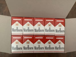 Marlboro mini wooden match flip top box. Lot of 50