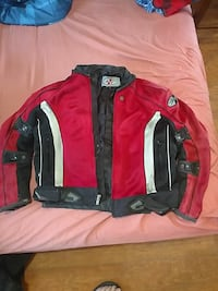 red and black zip-up motorcycle jacket Richlands, 28574