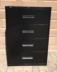 KIRSH 4-Drawer Lateral File Cabinet (BLACK) lock and key