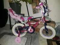 toddler's purple and white bicycle with training wheels Alexandria, 22306