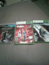two Xbox 360 Games and one PS3 Game