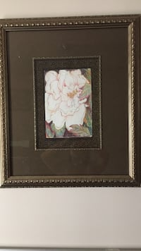 brown wooden framed painting of white petaled flowers Clarksburg, 20871