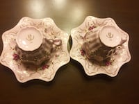 Vintage Tea cup and saucer set of 2 Olympia, 98502