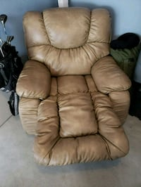 brown leather recliner sofa chair Glenarden
