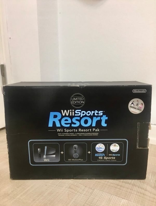 Nintendo Wii Sports Resort Pack+Nunchuck+Motion Remote 5