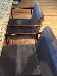 Pair of CB2 Chairs -Grey and Brass Arlington, 22203