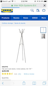 Ikea hat and coat stand Vancouver, V6H 1A5