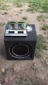 black and gray subwoofer speaker Manassas, 20111