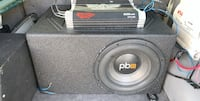 """PowerBass 10"""" in new QBomb Box and PowerAcoustik Amp Summerville, 29486"""