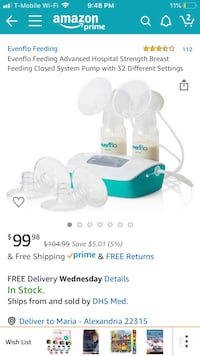 Evenflow Advanced Double Electric Breast Pump Alexandria, 22315