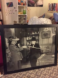 W C Fields classic picture playing pool Manassas, 20110
