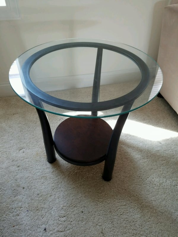 Glass top side and center (coffee) tables - Will deliver (depending on location) if you prefer. e51c9eb9-7614-4a87-9a3f-6e49d046cea7