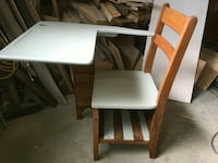 white and brown wooden school armchair Sylvan Lake, T4S 2K2