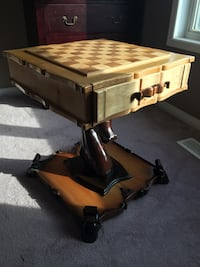Custom custom designed chess board table all exotic wood. Aurora, L4G 7J5