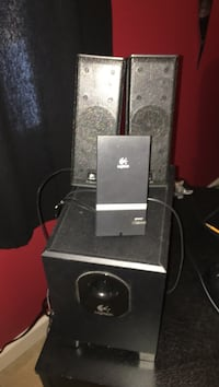 Logitech sub and speakers