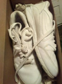 pair of white Adidas running shoes Huntington, 25705