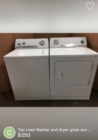 White washer and dryer set like new Laurel, 20707
