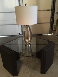 Stone and glass table