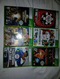 six Xbox 360 game cases Waterloo, N2J 4Y3