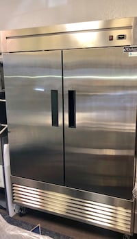 stainless steel side by side refrigerator with dispenser