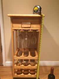 Rolling butcher block stand VACAVILLE