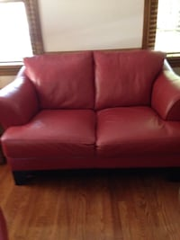 red leather 2-seat sofa Charlotte, 28277