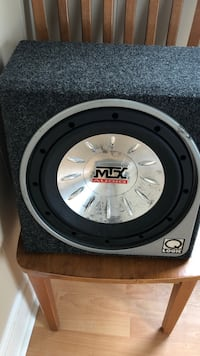 black and gray MTX Audio subwoofer Bristol, 02809