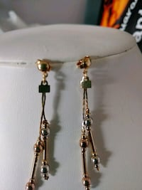 TRICOLOR GOLD FILLED EARRINGS. NEW BRAND Calgary, T3G 4A6