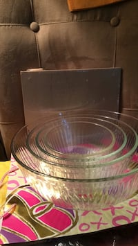 clear glass bowl and plate 52 mi