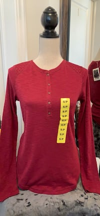 Burgundy Long Sleeve Top-small