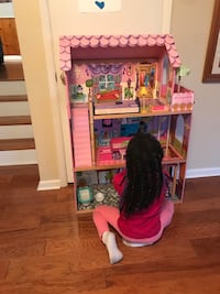 Large wooden dollhouse
