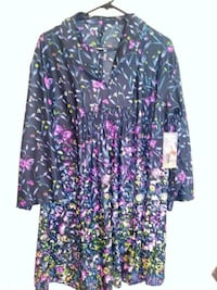 black, pink, and green floral long sleeve dress Azusa, 91702