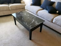 Faux Marble Lift Top Coffee Table, Black Woodbridge, 22191