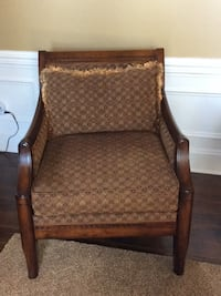 brown wooden framed brown padded armchair Waxhaw, 28173