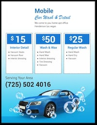 Mobile Car Wash we come to you Henderson, 89015