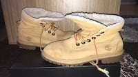 pair of brown Timberland work boots Toronto, M1M 1L8