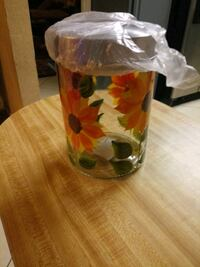 New Sunflower glass container