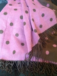 Pink and Brown Cozy Shawl Alpine, 07620