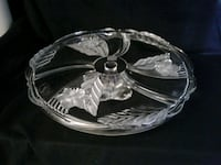 Mikasa etched cut crystal cake plate Eugene, 97404