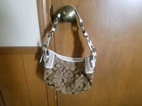 gray and white monogrammed Coach hobo bag Spring, 77373